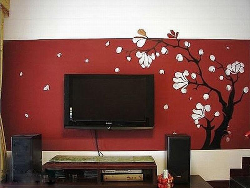 室内墙体彩绘:电视背景墙,沙发背景墙,卧室,儿童房间墙画,餐厅