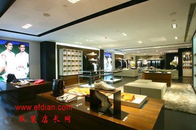 boss北京王府半岛酒店专卖店内店装修设计展示【开店装修技巧】