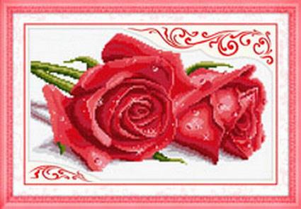 玫瑰情人 红【十字绣图案大全】
