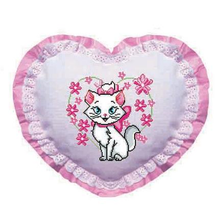 爱心猫咪【十字绣图案大全】