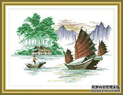 渔船【十字绣图案大全】