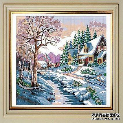 雪景【十字绣图案大全】