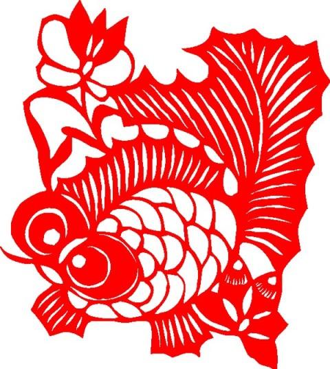 大眼金鱼【剪纸图案大全2011】