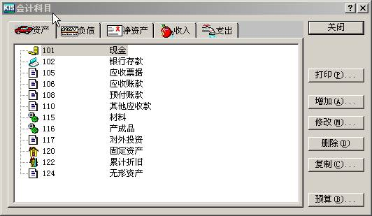 在会计科目设置窗口中,单击〈增加〉按钮进入新增科目界面,如图所示。   在会计科目详细资料窗口中的各输入栏目中输入新增科目的信息资料,并选择单选按钮或复选框。输入完毕后,单击〈增加〉按钮保存新增科目的资料。增加完毕后,单击〈关闭〉按钮,返回会计科目设置窗口。   增加会计科目必须由上级至下级逐级增加。即必须首先增加上级科目,只有上级科目存在才能增加下级科目,否则系统会提示上级科目不存在。会计科目的级别编码,完全按照您在新建账套时所设各级会计科目编码长度来限制的,您在进行科目编码时要按照所设定的各级长度