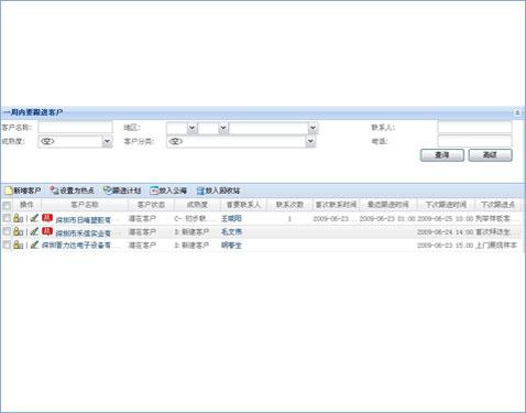 客户管理软件进行客户关系管理操作界面2
